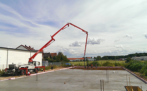 Betoneinbau